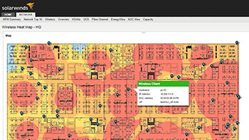Dynamic and customizable network mapping with wireless heat maps